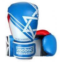 Боксерские перчатки zooboo blue bg09