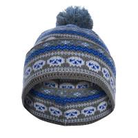 Спортивная шапка-маска черепа серо-голубая от варгградъ