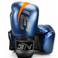 Боксерские перчатки bn microfiber  fight - blue