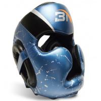 Шлем боксерский bn microfiber fight blue