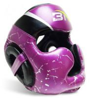 Шлем боксерский bn microfiber fight purple