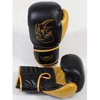 Перчатки боксерские ecos punch black-gold 14 oz