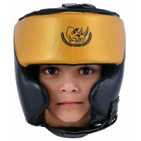 Шлем боксерский ecos punch black-gold