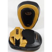 Лапы боксерские ecos punch black-gold gel