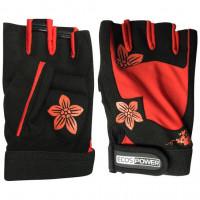Перчатки для фитнеса ecos power black red 5106