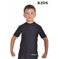 Футболка компрессионная berserk martial fit kids black