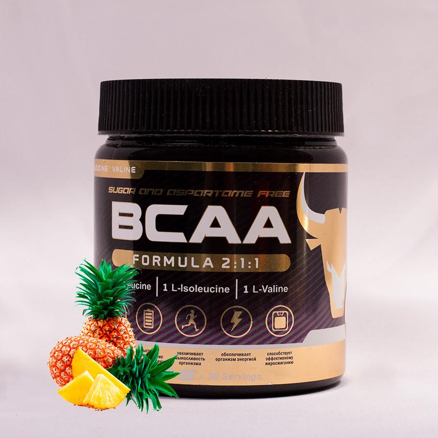 БЦАА от musclecraft bcaa formula 2:1:1 (ананас)