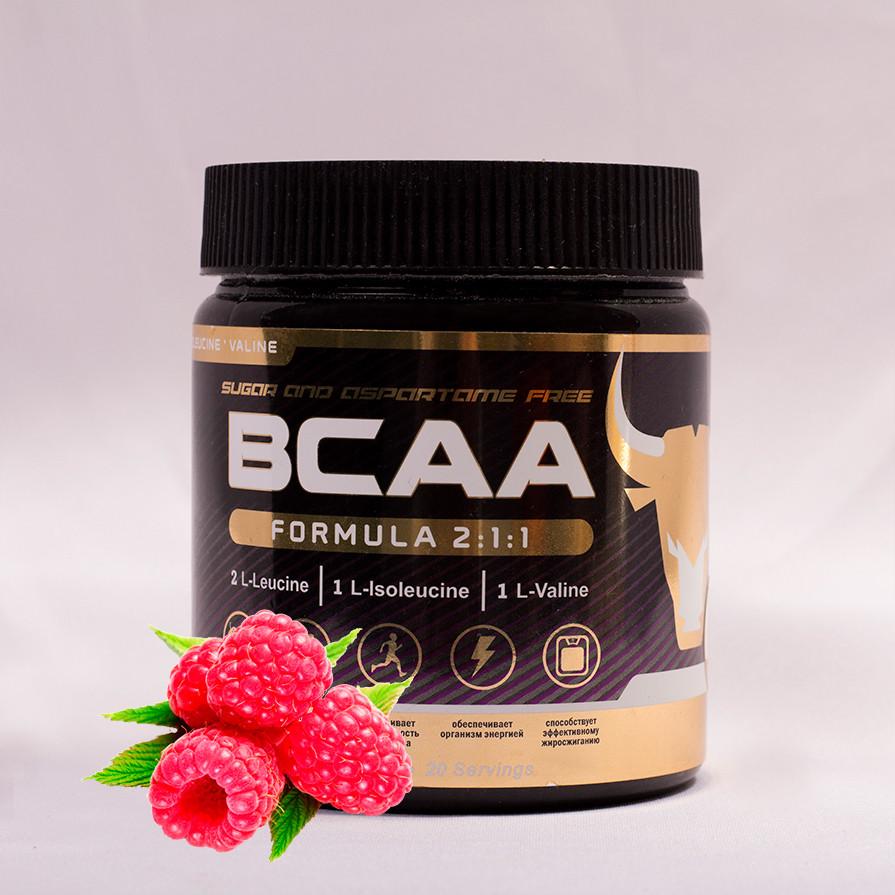 БЦАА от musclecraft bcaa formula 2:1:1 (малина)