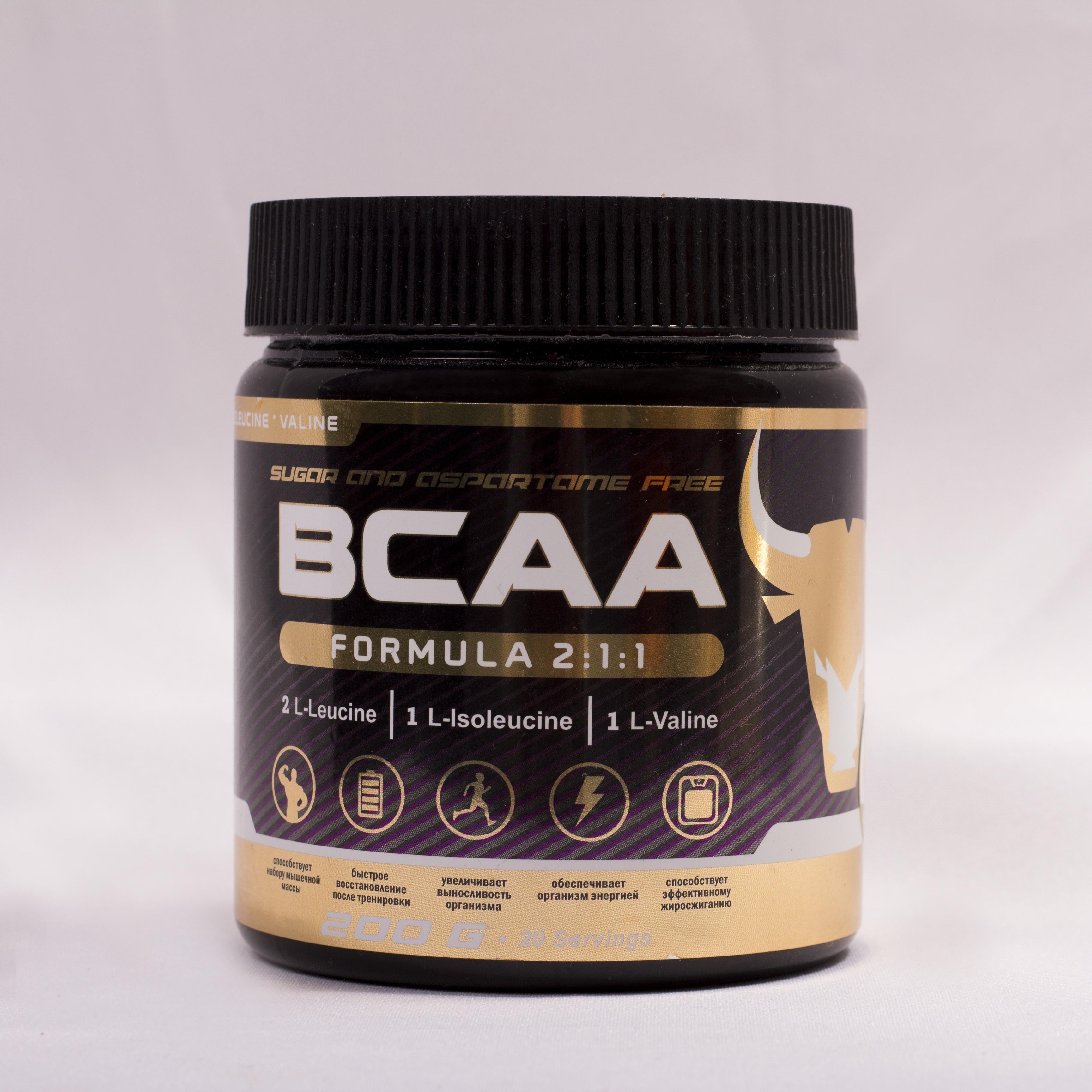 БЦАА от musclecraft bcaa formula 2:1:1 (нейтральный)