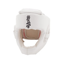 Шлем bfs модель - kyokushinkai кожа белый