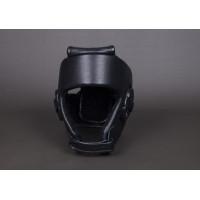 Шлем bfs открытый кожа черный