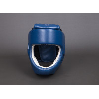 Шлем bfs с защитой подбородка синий