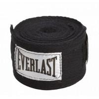Бинты everlast 2,5 м elastic черные