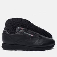 Мужские кроссовки для повседневной носки reebok classic leather black