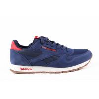 Мужские кроссовки для повседневной носки reebok classic blue red