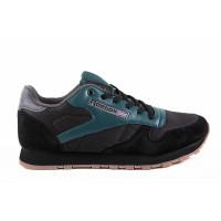 Мужские кроссовки для повседневной носки reebok classic black green