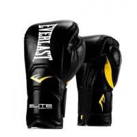 Перчатки тренировочные на липучке everlast elite pro черные