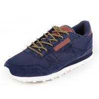 Мужские кроссовки для повседневной носки reebok classic blue brown