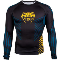 Рашгард venum plasma long sleeves black/yellow