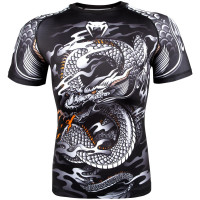 Рашгард venum dragon short sleeves black/white