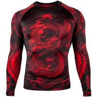 Рашгард venum dragon long sleeves black/red