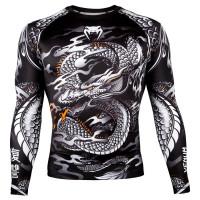Рашгард venum dragon long sleeves black/white