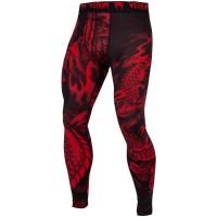 Компрессионные штаны venum dragon black/red