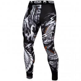 Компрессионные штаны venum dragon black/white