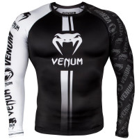 Рашгард venum logos long sleeves black