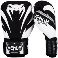Боксерские перчатки venum impact black/white