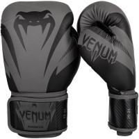 Боксерские перчатки venum impact black/back