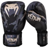 Боксерские перчатки venum impact dark camo