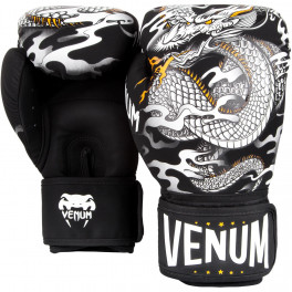 Боксерские перчатки venum dragon black white