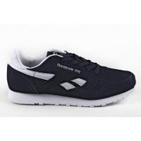 Мужские кроссовки для повседневной носки reebok classic blue white