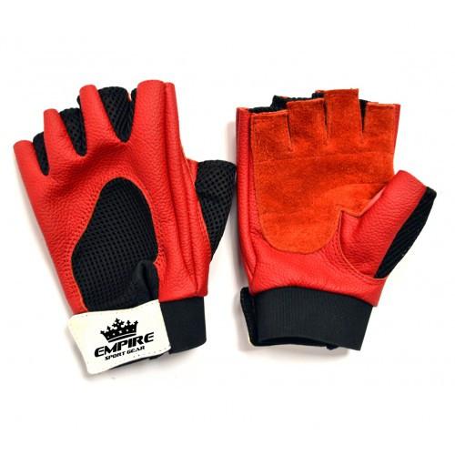 Перчатки для тяжелой атлетики empireboxing red