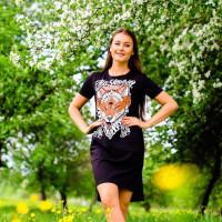 Футболка-платье женская mysiberia лиса черная