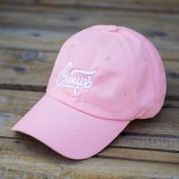 Бейсболка mysiberia с вышивкой сибирь розовая