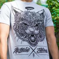 Футболка mysiberia сибирский кот серая