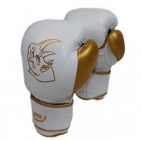 Перчатки боксерские детские ecos kids rhino white gold