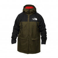 Куртка north face с капюшоном black/green
