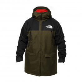 Куртка north face с капюшоном black/green