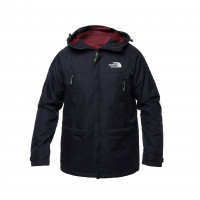 Куртка north face с капюшоном dark/blue