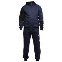 Спортивный костюм reebok crossfit утепленный на молнии синий
