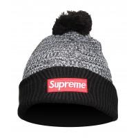 Шапка supreme grey black
