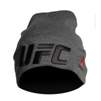 Шапка reebok ufc grey black