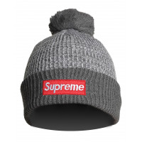Шапка supreme grey grey