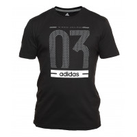 Футболка мужская adidas perfomance stripes black 1577