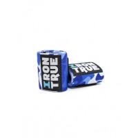 Бинт кистевой iron true 50см синий-камуфляж