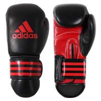 Перчатки боксерские adidas kpower300 kick boxing gloves black red