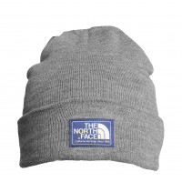 Шапка the north face grey